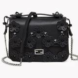 Borse del progettista della signora di sacchetto della spalla cuoio genuino con i fiori Emg4698