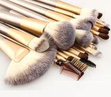 24 Reeks van de Borstel van de Make-up van de Luxe van het Hulpmiddel van PCs de Professionele Kosmetische Gouden