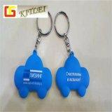 Keyring plástico personalizado da corrente chave de venda direta da fábrica