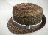 Sombrero de paja sin procesar cosido color mezclado del sombrero de ala del tinte del espacio de la venda de la franja de la venda del borde de la trenza