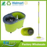 Mop с зеленым ведром, вращая волшебный Mop 360 торнадоа 360 закруток