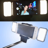 팬을%s 가진 연장 비현실적인 Bluetooth 무선 LED 전구 Monopod 자동화된 Selfie 지팡이
