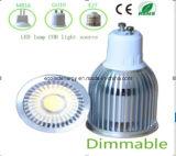 高いQuliaty Dimmable GU10 9Wの穂軸LEDライト