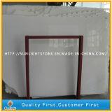 Marmo bianco puro Polished/mattonelle bianche della parete del pavimento del marmo della giada