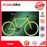 L'aluminium bon marché de la Chine a fixé le vélo de vitesse couleur blanche bleue de 26 pouces avec les composants européens à vendre avec la selle en cuir