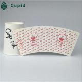 PE enduit de ventilateur de tasse de papier de tasse de cappuccino de Hztl