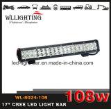Fascio combinato SUV fuori strada 4X4 della barra chiara del lavoro del CREE LED da 17 pollici che conduce camion Lightbar Wl-8024-108 (LED-LIGHT-BAR)