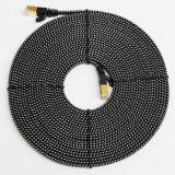 Cat7 10 Gevlechte Nylon van de Kabel van het Flard van Gigabit Ethernet het ultra Vlakke