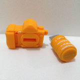 Entraînement fait sur commande de stylo usb d'appareil-photo en caoutchouc de PVC pour la promotion