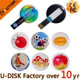 Kundenspezifisches Entwurfs-Geschenk-Qualitäts-rundes Karte USB-Blitz-Laufwerk