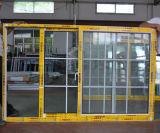 Puder-überzogener gerundeter Verschluss-schiebendes Aluminiumfenster der gute QualitätsKz309 mit Rasterfeld