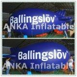 Populair Groot Opblaasbaar pvc die van het Helium Blauw Luchtschip adverteren