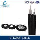 Fábrica de fibra óptica profissional do cabo do cabo pendente de GJYXFCH com membro Self-Supporting