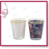 1.5oz Sublimation Custom Printed Wine Glass с Golden Rim