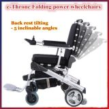 E-Thron! Falz des neuen erfinderischen Entwurfs-10 ''/faltbares Energien-motorisierter Rollstuhl-Cer FDA-gebilligt, gut in der Welt, wahlweise freigestellte Nachrüstsätze