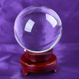Crystal clair Glass Ball avec Base pour Wedding Favor Home Decoration