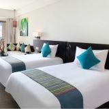 Гостиницы собрания постельных принадлежностей хлопка равнины дешево Pillowcases Sheets& белых установленные