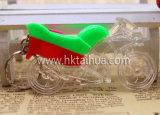 Motobike Shape Custom Plastic Light LED Keychain avec THK-023
