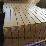 China Factory Produce Sloted Groove Melamine MDF für Shop Display