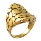 Mujeres de la India Wedding el anillo del recuerdo del oro 18k