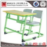Mesa e cadeira do estudante do assento dobro para a sala de aula (NS-KZ011A)
