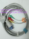 Cable de Snap&Clip Rou 10pin 3 ECG del DATEX