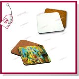 10cm Sublimation Printed MDF Cork Wood Coaster