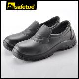 Profesional que cocina los zapatos de seguridad con negro de la inyección L-7019 de la PU