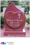 Конструкция Heart-Shaped красного Gravestone гранита