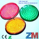 Módulo que contellea verde rojo y ambarino del alto flux y del LED del semáforo con la lente clara
