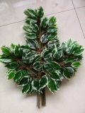 Künstliche Pflanzen und Blumen des grünen und weißen Ficus Gu-Jy902121316