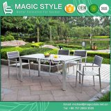 Im Freien speisendes Set, das Stuhl-Aluminiumdrahtziehen-Stuhl-Aluminiumstuhl-Aluminiumzeichnungs-Stuhl-Garten-Möbel-Patio-Möbel Poly-Holz Stuhl (magische, speist Art)