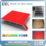 Étape en aluminium portative bon marché extérieure avec les pattes réglables