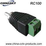 CCTVねじ込み端子(RC100)が付いている男性のSolderless RCAのコネクター
