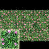 Il giardino fiorisce la barriera artificiale del Boxwood di segretezza della rete fissa di plastica dell'EDERA