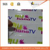 Étiquette estampée transparente auto-adhésive d'insigne d'impression de collant d'étiquette d'empaquetage et d'impression