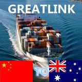 Serviço de transporte internacional do frete de mar de China a Melbourne, Austrália