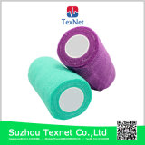 Bandagem adesiva auto-adesiva de algodão colorido