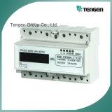 Mini type mètre électronique triphasé de watt-heure d'installation de rail DIN (DTS256 (ii))