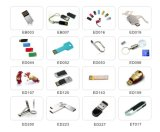 Movimentação metálica da pena da movimentação luxuosa do flash do USB da bala do ouro para o presente (EM052)