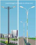luz de calle 10m con la lámpara del LED