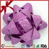 Arco viola del nastro della stella di scintillio di modo di imballaggio per la decorazione di natale