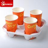 Напечатанная несущая кофеего белизна бумаги 4 чашек