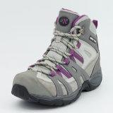 女性のための防水の靴をハイキングする本革