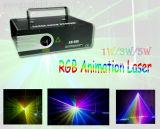 Laser do sistema da mostra da animação da iluminação 1With3W RGB do estágio do partido (J1-1000)