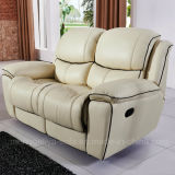 Recliner-ledernes Sofa eingestellt (607#)