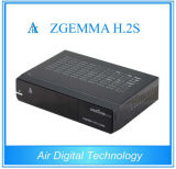 Full HD PVR 3D Zgemma H. ​​2s com Twin DVB-S2 Satellite Receiver Caixa de TV Linux E2