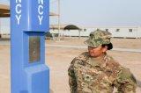 軍用基地、路傍、Hgihwayの地下鉄、空港ヘルプの電話のための緊急タワーの電話