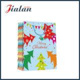 напечатанный 4c мешок подарка покупкы упаковки рождества бумаги с покрытием бумажный