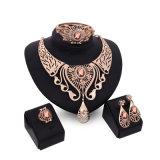 형식 상한 목걸이 귀걸이 팔찌는 세트 당 합금 황금 4 PCS 고정되는 보석을 둥글게 된다